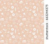seamless vector pattern of... | Shutterstock .eps vector #663244375