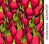 exotic vector pattern. dragon... | Shutterstock .eps vector #663244729