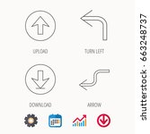 arrows icons. download  upload... | Shutterstock .eps vector #663248737