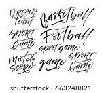 set of sports phrases   dream... | Shutterstock .eps vector #663248821