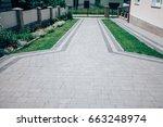 perspective view of monotone... | Shutterstock . vector #663248974
