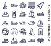 ship icons set. set of 25 ship... | Shutterstock .eps vector #663250741