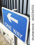 Small photo of advisory arrow blue career caution choice choose clear danger decide , one way