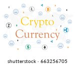 cryptocurrency and blockchain... | Shutterstock .eps vector #663256705