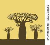 vector illustration of three... | Shutterstock .eps vector #663268669