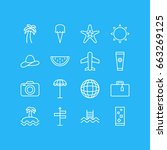 vector illustration of 16... | Shutterstock .eps vector #663269125