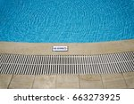 outdoor swimming pool with no... | Shutterstock . vector #663273925