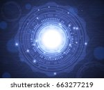 abstract technology concept... | Shutterstock .eps vector #663277219