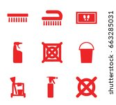 cleaning icons set. set of 9... | Shutterstock .eps vector #663285031