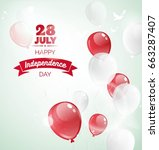 28 july. peru independence day... | Shutterstock .eps vector #663287407