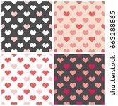 tile vector pattern set with... | Shutterstock .eps vector #663288865