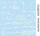 formulas | Shutterstock .eps vector #66328912