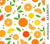 seamless pattern with... | Shutterstock .eps vector #663289195