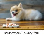 selective focus on tablet drugs ... | Shutterstock . vector #663292981