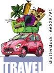 auto travel | Shutterstock .eps vector #66329791