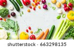 kitchen   fresh colorful... | Shutterstock . vector #663298135