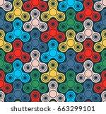 hand fidget spinner toys...   Shutterstock .eps vector #663299101