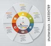 infographic design template 6... | Shutterstock .eps vector #663304789