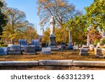 Group of tombstones and...