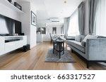modern living room interior | Shutterstock . vector #663317527