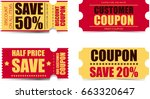 coupon icons  | Shutterstock . vector #663320647