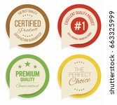 badges and labels collection.... | Shutterstock .eps vector #663325999