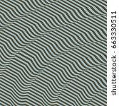 3d wavy background. dynamic...   Shutterstock .eps vector #663330511