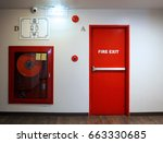 Fire Exit Emergency Door Red...