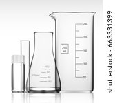chemical laboratory glassware... | Shutterstock .eps vector #663331399