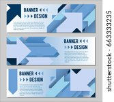 vector set of banner templates... | Shutterstock .eps vector #663333235