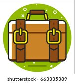 valise icon | Shutterstock .eps vector #663335389