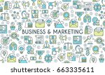 business and marketing banner.... | Shutterstock .eps vector #663335611