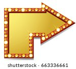 arrow icon with lamps | Shutterstock . vector #663336661