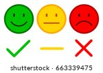 three smilies with check mark ... | Shutterstock .eps vector #663339475