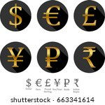 money signs icons | Shutterstock . vector #663341614