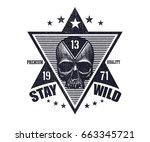typography vintage tee print...   Shutterstock .eps vector #663345721