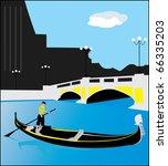 gondola. venice | Shutterstock .eps vector #66335203