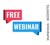 free webinar. speech bubble... | Shutterstock .eps vector #663354751