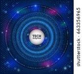 abstract digital hi tech... | Shutterstock .eps vector #663356965