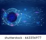 abstract circuit technology... | Shutterstock .eps vector #663356977