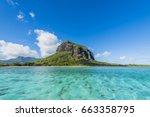 le morne brabant   mauritius... | Shutterstock . vector #663358795