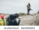 behind the scene. actress in... | Shutterstock . vector #663360661