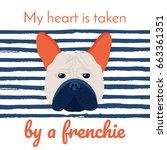 a vector illustration of a dog... | Shutterstock .eps vector #663361351