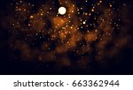 gold abstract bokeh background. ... | Shutterstock . vector #663362944