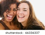 Portrait Of Two Women Laughing