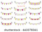 hand drawn vector summer... | Shutterstock .eps vector #663378361