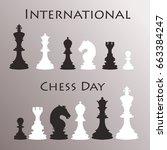 chess background. international ...   Shutterstock .eps vector #663384247