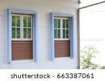 detail view of windows on... | Shutterstock . vector #663387061
