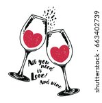 """all you need is love and wine"" ... 