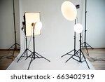 photo studio equipment   Shutterstock . vector #663402919